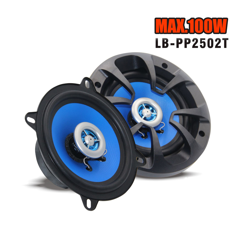 New 100 Watts High quality 5 2-way Two Coaxial Car Audio Speakers Speaker Blue Free Shipping