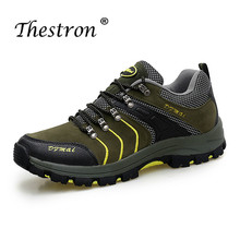 Spring Mountain Hiking Shoes Anti-Slip Men Shoes for Hunting Army Green Tracking Boots Men Damping Outdoor Shoes For Male недорого
