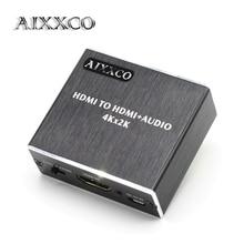 Aixxco HDMI аудио эксрактор HDMI к HDMI с оптический TOSLink SPDIF + 3.5 мм стерео аудио эксрактор конвертер HDMI аудио сплиттер