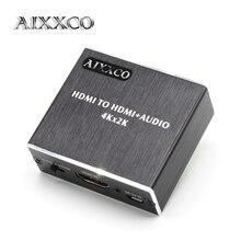 AIXXCO HDMI estrattore Audio HDMI a HDMI con Ottica TOSLINK SPDIF + 3.5mm Stereo Audio Extractor Convertitore Audio HDMI Splitter