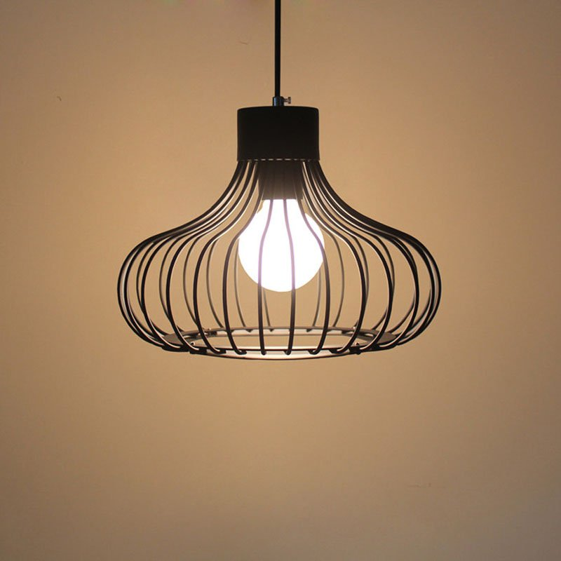 Modern Nordic Iron Cage Kids Bedroom Pendant Lamps Bar Counter Dining room Hanging Lights Corridor Hallway Balcony Pendant Lamp