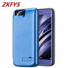 For Xiaomi Mi 6 Battery Case With Holder External Backup Charger 6500mAh Ultra Thin Fast Cover