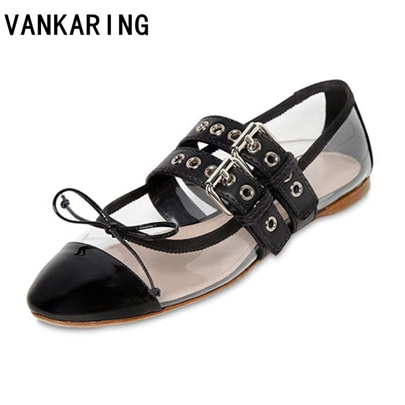 Mocassin Plat En red Chaussures Croix Marque on Black Occasionnels Leather Cuir Ballerines De silver Bling Mocassins Dames attaché Slip Femmes Pvc Appartements Transparent Danse O1tnwxpqta
