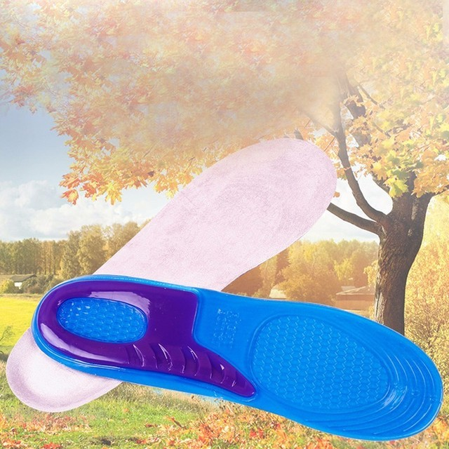 1 Pair Large Size Orthotic Arch Support Massaging Silicone Anti-Slip Gel Soft Sport Shoe Insole Pad For Man Women insoles 5