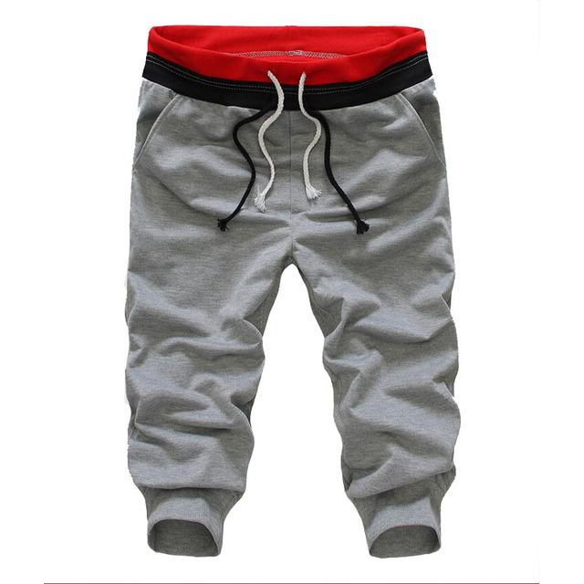 New Lightweight Men Pants Cotton Fashion Pant Men Loose Solid Cross Pants Calf-Length Trousers Mens Casual Pant Slim Fit
