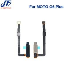 10 モトローラ G6 ホームボタン指リーダーモト g6 再生プラス指紋リーダーセンサーフレックスケーブル
