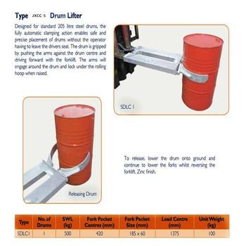 Hot sale Forklift accessories Forklift attachment Drum lifter for Oil barrel handling
