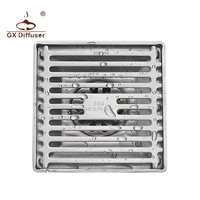GX.Diffuser Floor Drai Modern Stainless Steel Bathroom Shower Drainer 304 Square Floor Drain