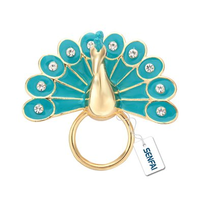 f47b5621dc1c Senfai Famous England Green Color Peafowl Eyeglass Holder Peacock Magnet  Sunglass Holder Best Gift for Party