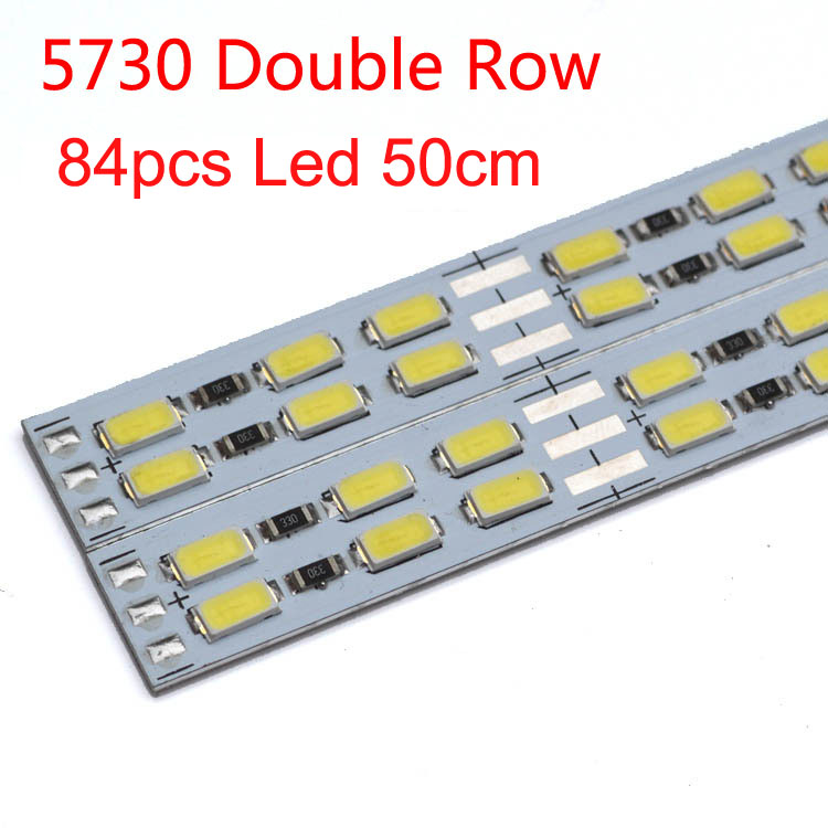 200pcs/lot 50cm LED double line hard strip bar light 12v light bar 84pcsLED/0.5M 5630/5730 rigid strip for jewelry counter