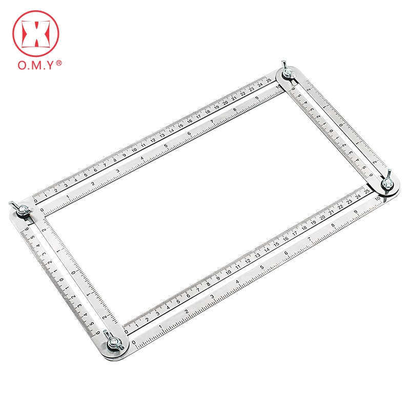 OMY Stainless steel Template Tool Four-sided Measuring Tool Angle Finder Protractor Multi-Angle Ruler Layout stainless steel angle square finder level ruler 30cm