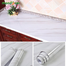 PVC Self Adhesive Wallpaper Vinyl Waterproof Marble Wall Sticker Home Decor Kitchen Desktop Furniture Cupboard Renovation Decals