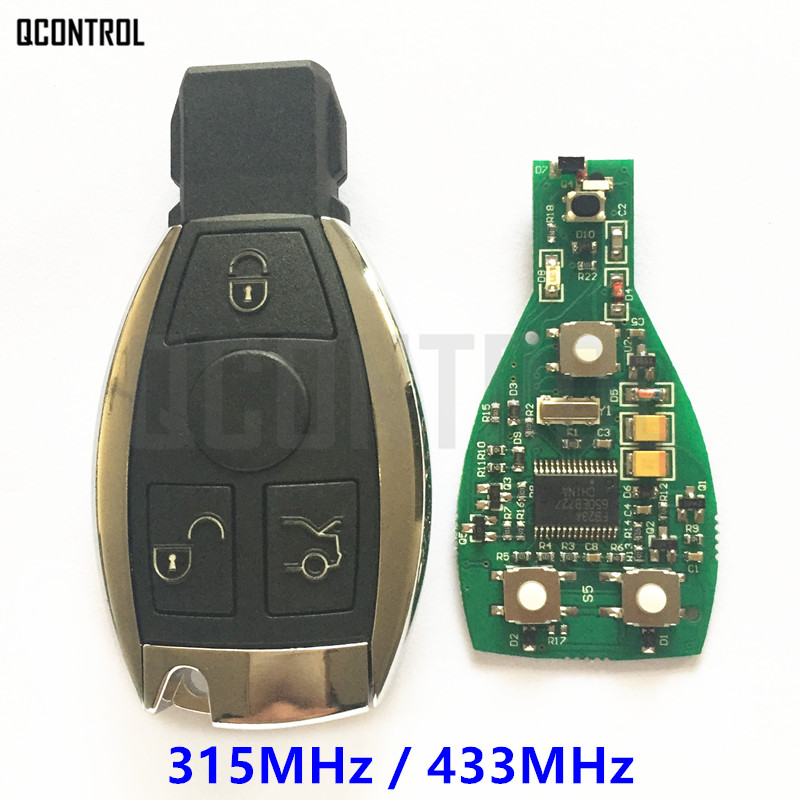 QCONTROL Smart Key work for Mercedes Benz Supports NEC and BGA type Car Remote Controller Year 2000 -