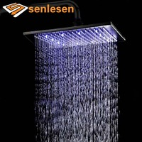 Wholesale And Retail LED Color Changing Oil Rubbed Bronze Rain Shower Head with Multiple Size