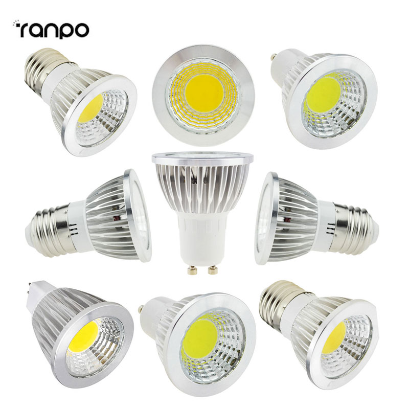10PCS/Lot Super Bright LED COB Spotlight Bulbs GU10 B22 E27 E14 6W 9W 12W Lamps Bright LED lamp light Lampada MR16 dc12V
