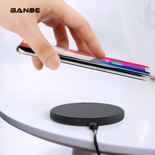 BANDE Wireless Charger  Round Charging  Pad Adapter For iPhone X 6 6S 7 8 Plus For Andriod