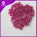 Free shipping 100 fuschia metal tube ring dreadlock beads for braids hair beads for dreadlocks adjustable hair braid cuff clips