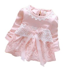 hot deal buy jxysy cute baby dresses for girls birthday long sleeves princess dress for girl baptism gown girls 3months-3year old infant