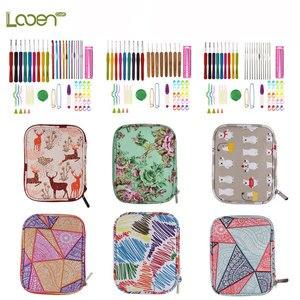 Image 2 - DIY Needle Arts Craft Crochet Hook Set and Bag Animal Ergonomic Yarns Crochet Knitting Needle Scissors Sewing Set Accessories