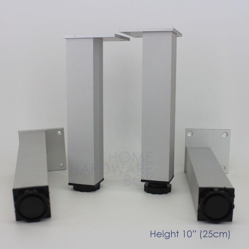 25cm Metal Aluminum Furniture Leg Height Adjustable Table