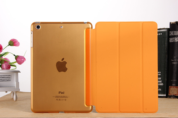 Yippee Color PU Transparent Back Ultra Slim Light Weight Trifold Smart Cover Case For Ipad 2/3/4