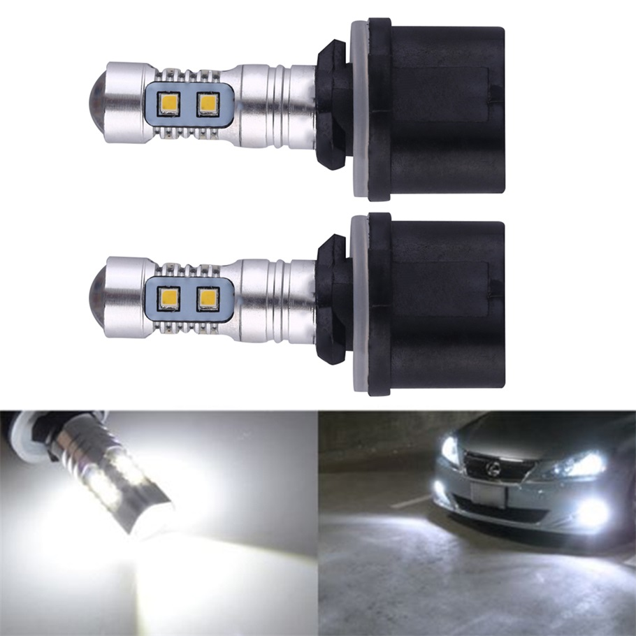1 Piece Newest 50W HID 380Lm White LED Bulbs 12V For Auto Car Fog Lights Driving Daytime Running Lamp Hot Selling