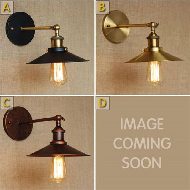 AC100 240 Wall Sconces Lamps Gold/Rustic Nostalgic Villa Church Aisle  Umbrella Decorative Wall