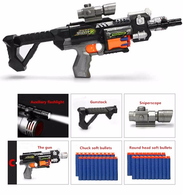Soft Bullet Gun Plastic Toy Sniper Rifle Gun Pistol Water Paintball Bubble Gun Outdoor Toys Paintball Nerfs Elite Air Soft Gun