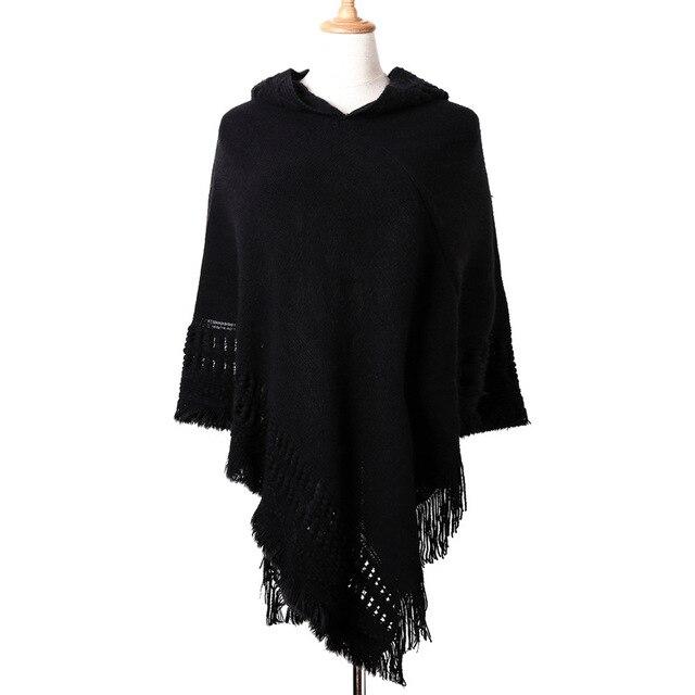 Ladies Tassel Cape Coat Poncho 4