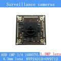 "AHD 1000TVL surveillance camera night vision 1.3MP 4.3mm pinhole lens 1MP Coaxial 1/4 ""CMOS NVP2431H + OV9712 chip Camera Module"