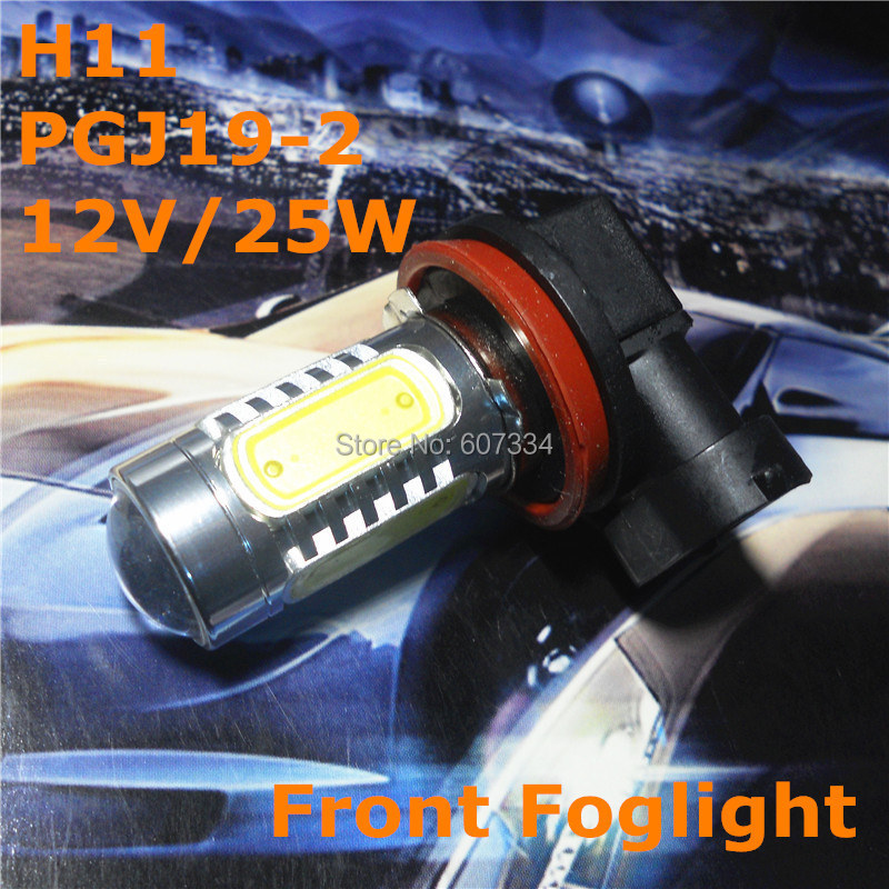 Stock Shipping New 12V LED Bulb Car Spare Lamp <font><b>H11</b></font> <font><b>PGJ19</b></font>-<font><b>2</b></font> 12V/25W For Universal Replacement Front Foglight image
