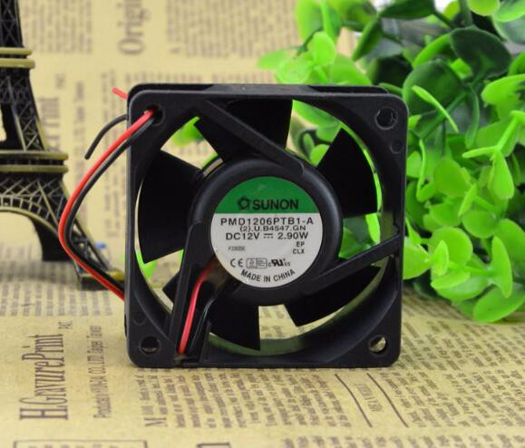Wholesale: original SUNON PMD16PTB1-A 60*60*25 12V 3.9W 6CM 2 wire cooling fan