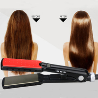Unique 7 Shape Design Hair Straightener Negative Ion Function Brand 1 3 5 Inch 100 Tourmaline