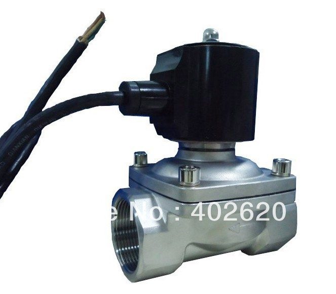 Free shipping,2pcs a lot, Guarantee 100% 2 Way Stainless Steel Water Solenoid Valve 2S160-15 free shipping 2pcs lot 1 2 weldless bulkhead with ball valve