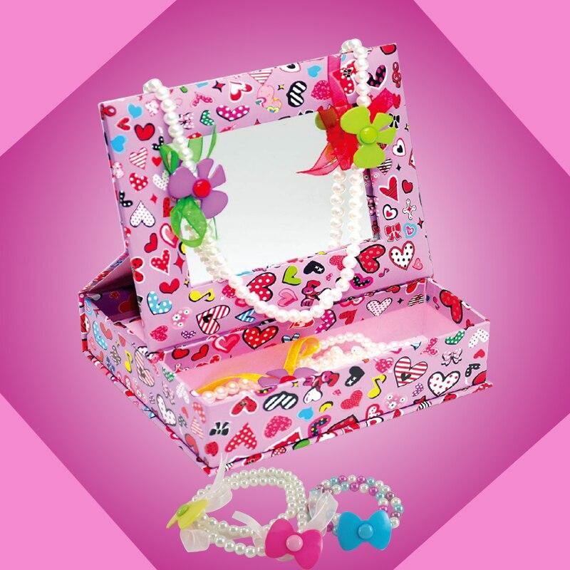 Handmade child educational toys diy beaded princess jewelry box
