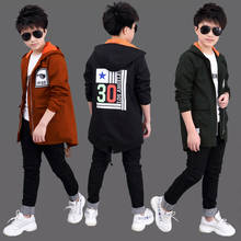 Children's clothing boy windbreaker jacket autumn 2018 new children's long section boy coat spring and autumn Korean version