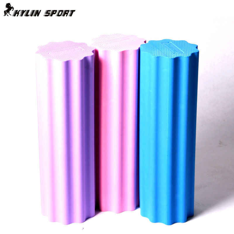 free shipping 45*15cm yoga pilates foam roller home gym plum-shaped solid yoga column massage exercise block