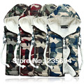 couple's Sexy camouflaged fatigues Waistcoats With Hooded And Patchwork Pattern ,women's Winter'S Coats Vest