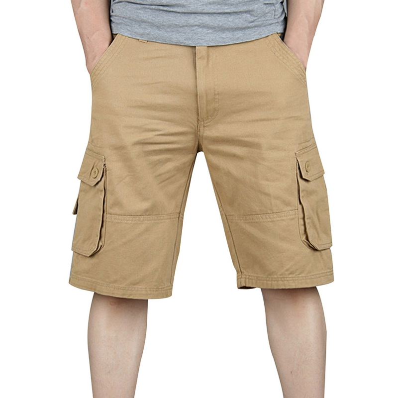 Hot Summer Shorts Mans Army Cargo Work Casual Wash Pocket Short Men Fashion Joggers Overall Military Plus Size