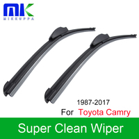 Mikkuppa Front And Rear Wiper Blades For Toyota RAV4 1994 2017 Windscreen Windshield Wipers Auto Car