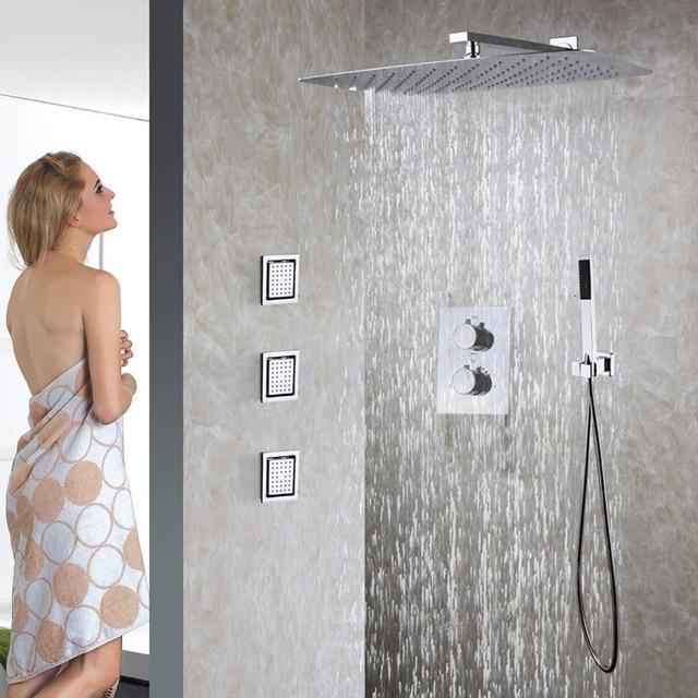 Badezimmer Thermostat Dusche Wasserhahn Set 55X35 CM ultradünne ...