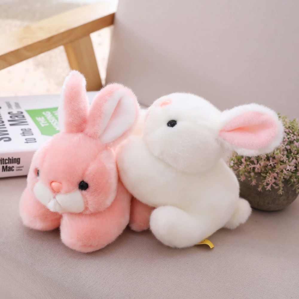 חמוד שוכב ארנב בפלאש צעצוע ורוד/לבן/אפור מתרפק חיות ארנבים באני ממולא בובת ילדים לחבק מנחם Plushie 15/20cm