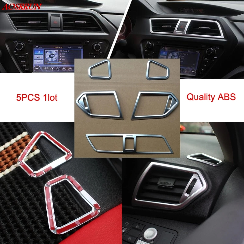 ABS 5PCS/1set car interior air conditioning outlet decorative cover trim fit for lifan x50 2014 2015 car accessories accessory фаркоп lifan x50 2015 без электрики