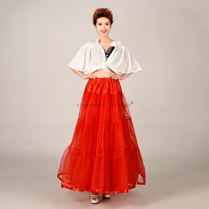 Image 4 - מכירה לוהטת טול חצאית רב צבע תחתונית ארוך לחתונה שמלות תחתוניות 2018 EE6639