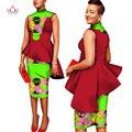 Personalizado Roupas 2 Peças Conjunto de Impressão Africano Cera Top Coat e Conjunto saia Conjunto Ternos Mulheres Saia Curta Definir 6XL BRW Dashiki WY1366