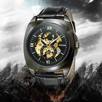 Winner New Number Sport Design Bezel Golden Watch Mens Watches Montre Homme Clock Men Automatic Skeleton
