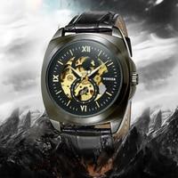 Winner New Number Sport Design Bezel Golden Watch Mens Watches Montre Homme Clock Men Automatic Skeleton