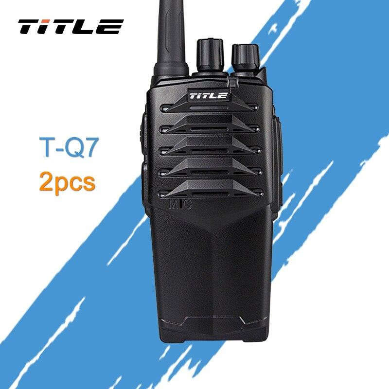 (2 unids) duro radio de dos vías título T-Q7 caer el hotel impermeable camino tres 10 W potencia pruebas walkie talkie