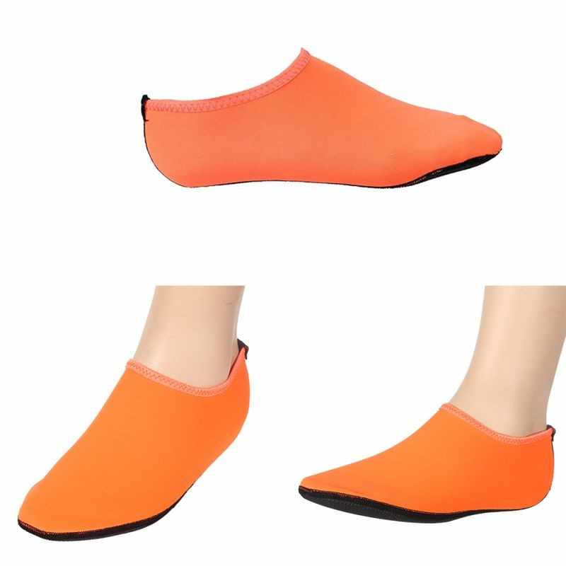 Erkekler Kadınlar Aqua ayakkabı Anti Kayma plaj ayakkabısı Yalınayak Cilt Ayakkabıları Yoga Su spor çoraplar Yumuşak Sahil yürüyüş botları dalış çorapları