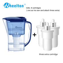 2016 бытовых и пикника двойной фильтр чайник и прикрепить дополнительные 3 картридж фильтр для воды, фильтр для воды Brita Бесплатная доставка